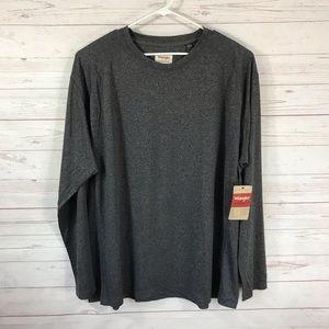 Wrangler Authentics Mens 3XL Gray Crew Neck Shirt